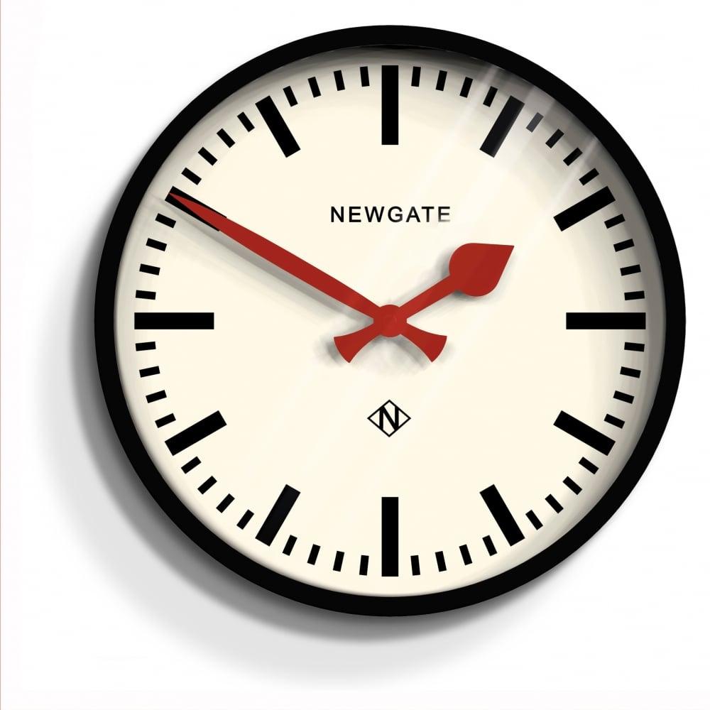 Newgate Luggage Wall Clock Black
