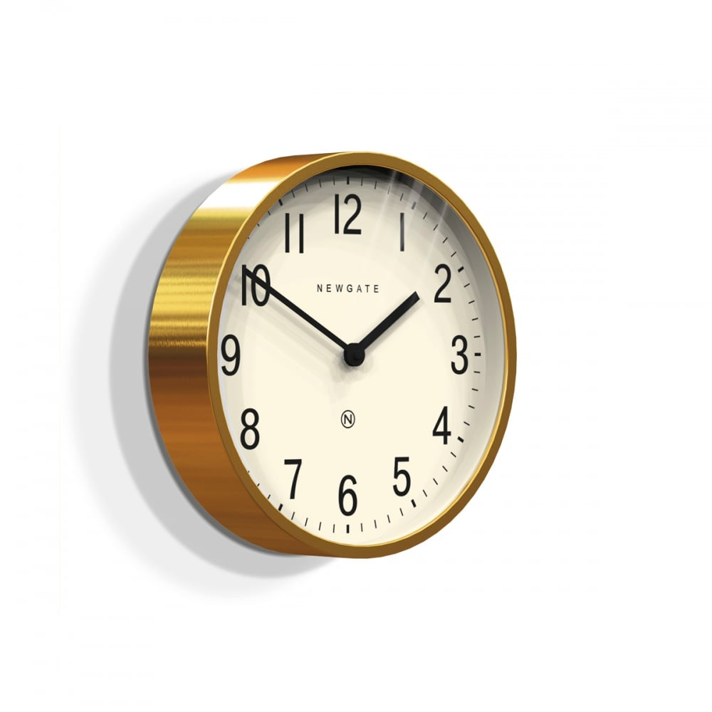 Newgate Master Edwards Wall Clock Radial Brass