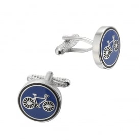 Blue Cycling Racer Cufflinks