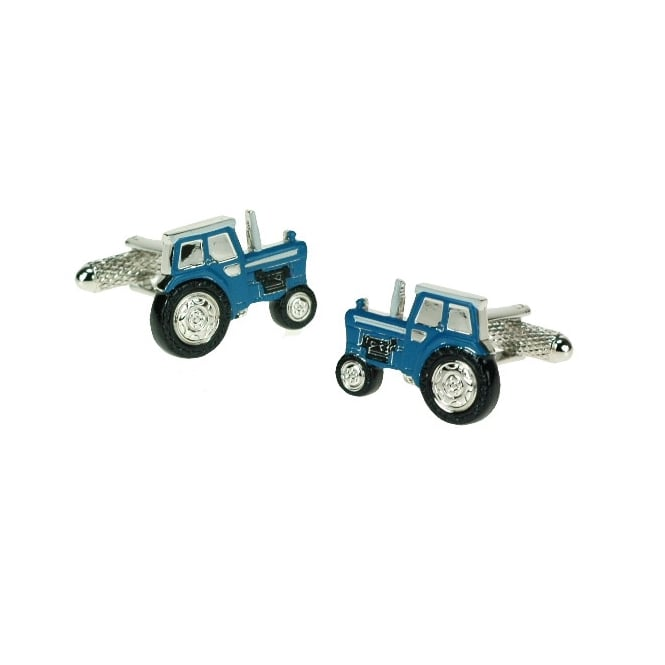 Onyx Art Blue Tractor Cufflinks