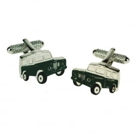 Green Jeep Cufflinks