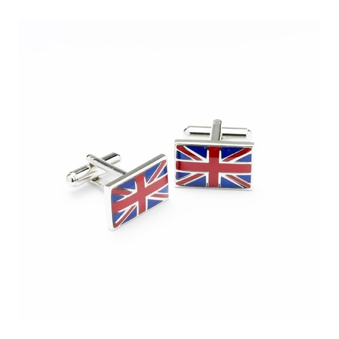Onyx Art Union Jack Cufflinks