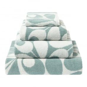 Orla Kiely Acorn Cup Towels - Duck Egg