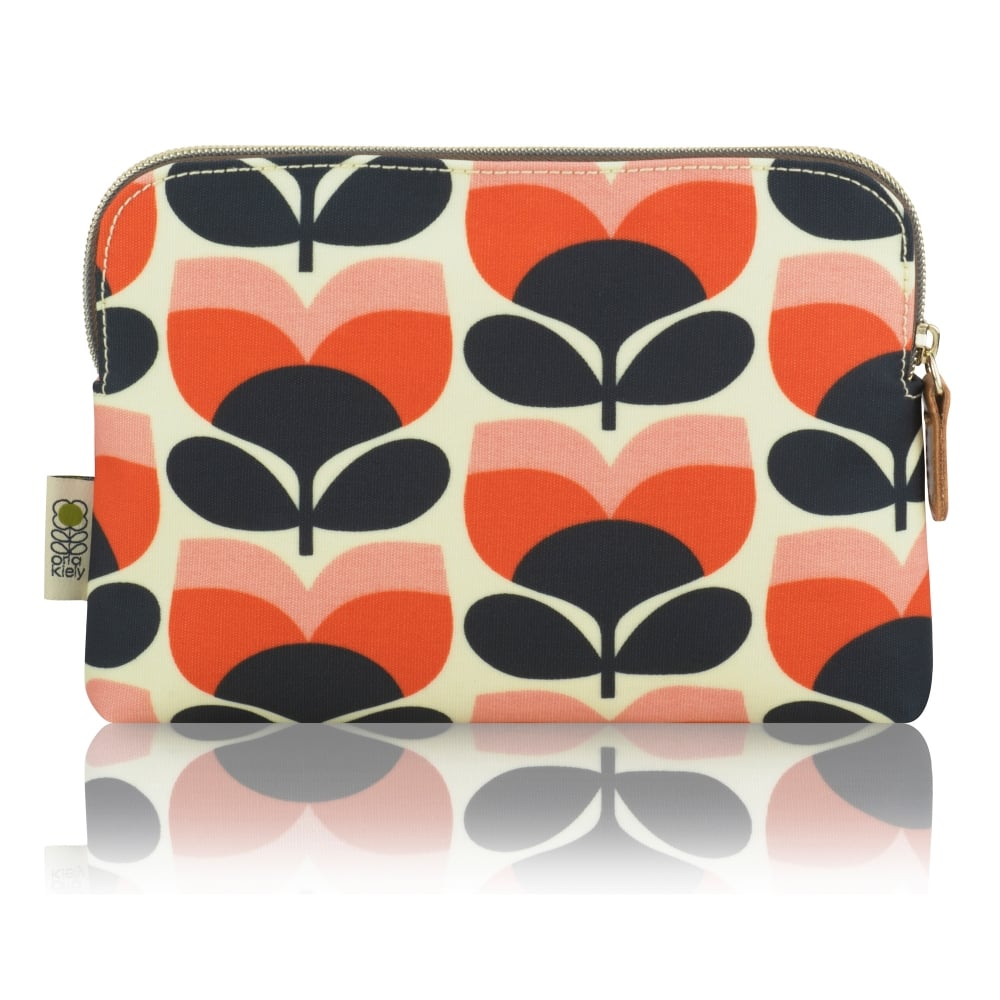 Flower Stripe Cosmetic Bag