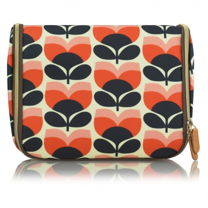 Orla Kiely Flower Stripe Hanging Wash Bag