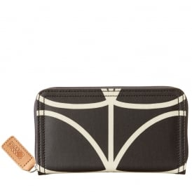 Giant Linear Stem Big Zip Wallet Liquorice