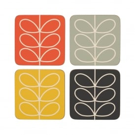 Linear Stem Coasters - Set of 4