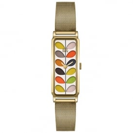 Patricia Gold Rectangular Stem Watch
