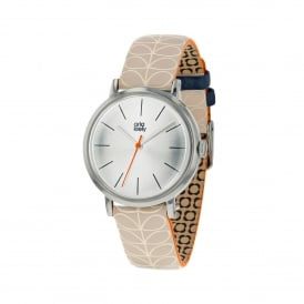Patricia Watch with Cream Linear Stem Print Strap