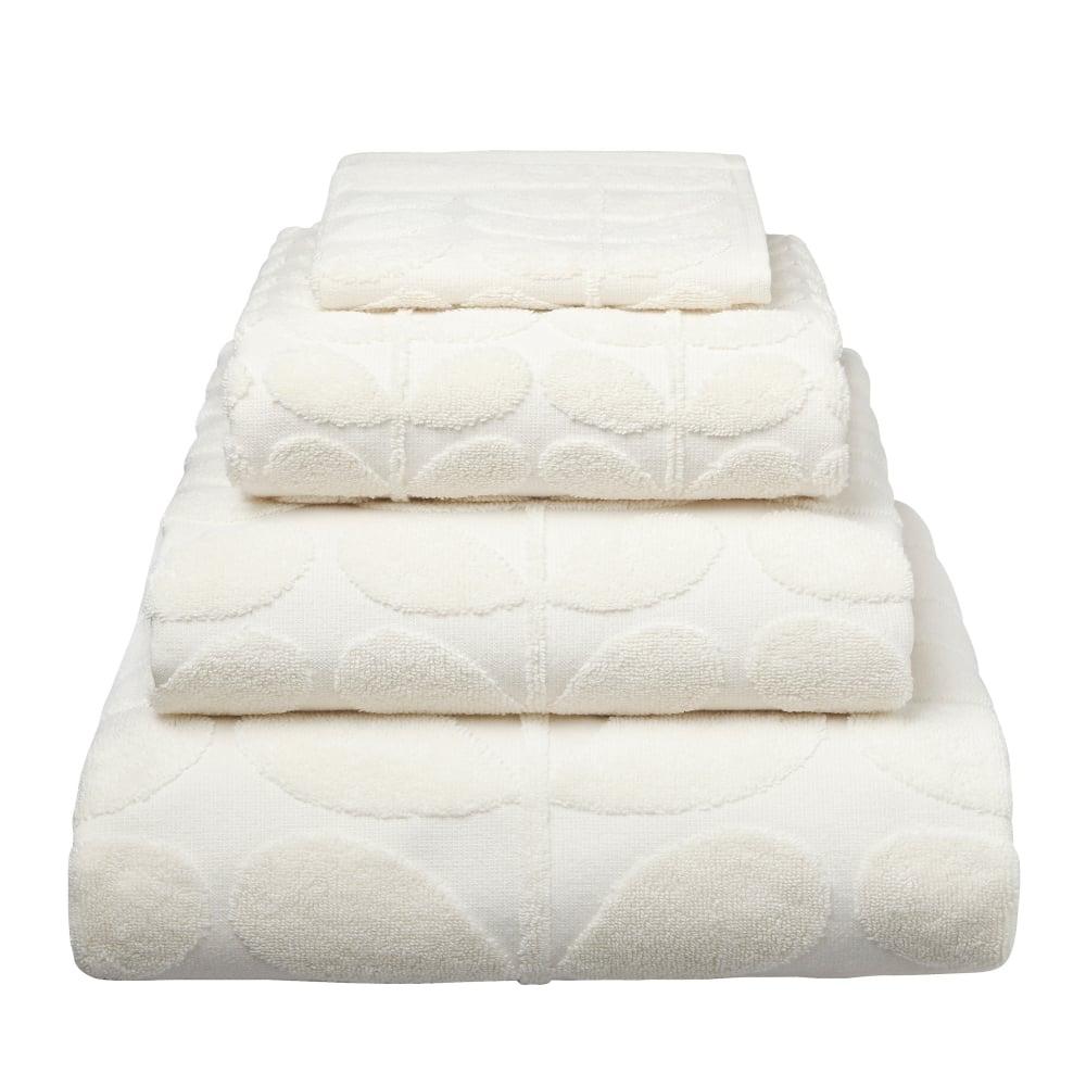 orla kiely sculpted stem towels cream. Black Bedroom Furniture Sets. Home Design Ideas