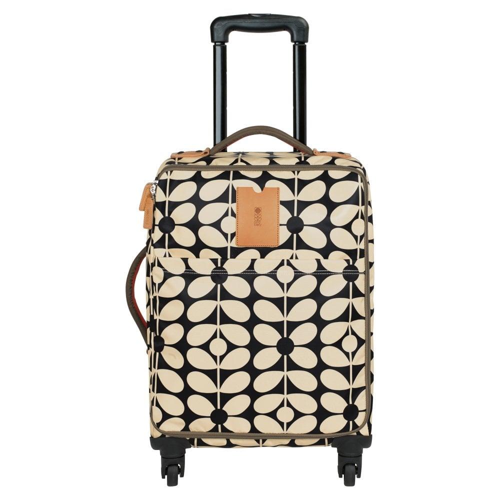 d43e6ccc73 Orla Kiely Sixties Stem Nylon Travel Cabin Case Charcoal Blue