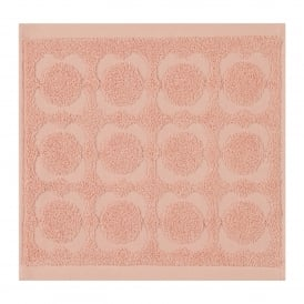 Spot Sculpted Flower Face Cloth - Pale Rose