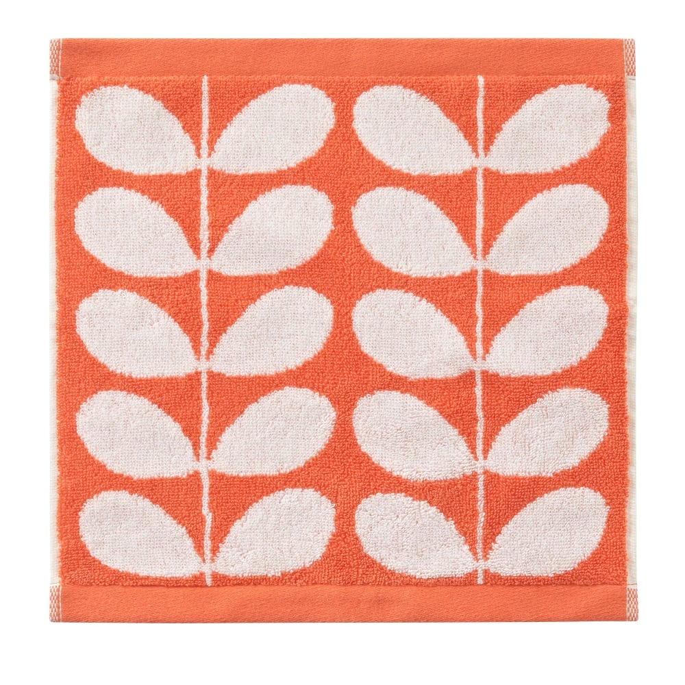 Stem Jacquard Towels Clementine