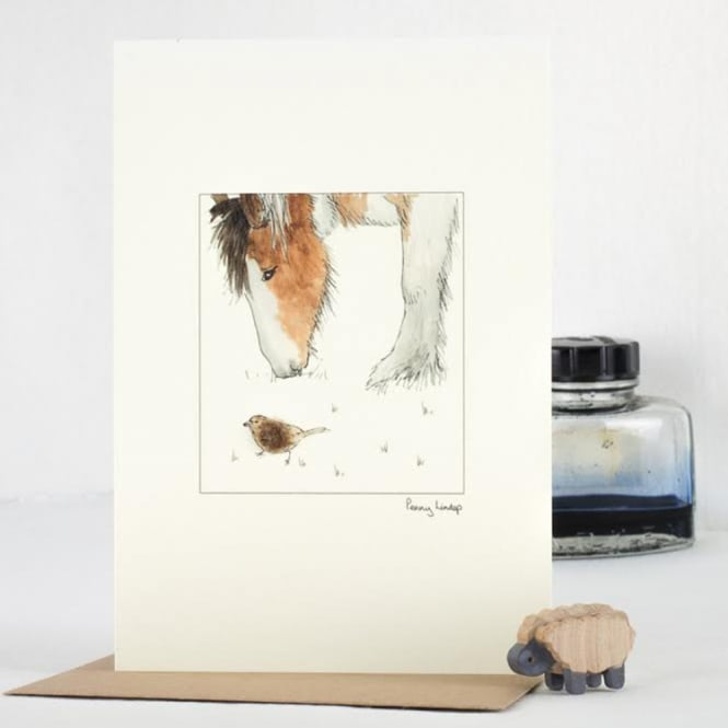 Penny Lindop Designs Horse & Sparrow Card