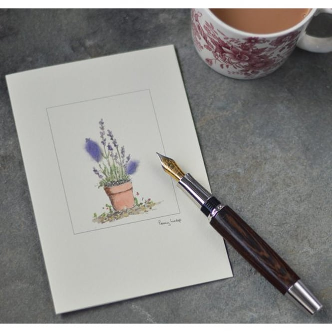 Penny Lindop Designs Lavender Greetings Card