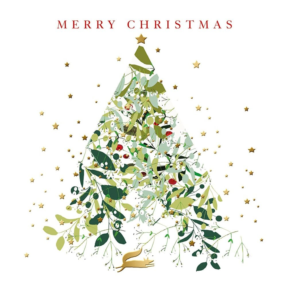 Real And Exciting Designs Christmas Tree Christmas Card