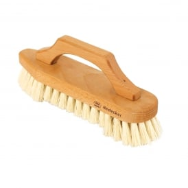 Oiled Beechwood Scrubbing Brush with Bow-Shaped Handle