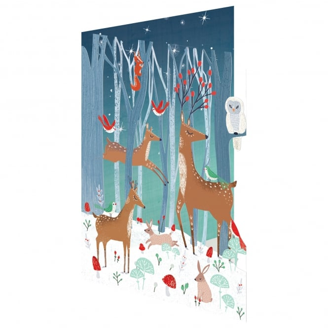 Roger la Borde Frosty Forest Lasercut Christmas Card