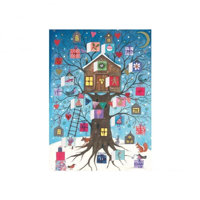 Roger la Borde Tree House Advent Calendar Card