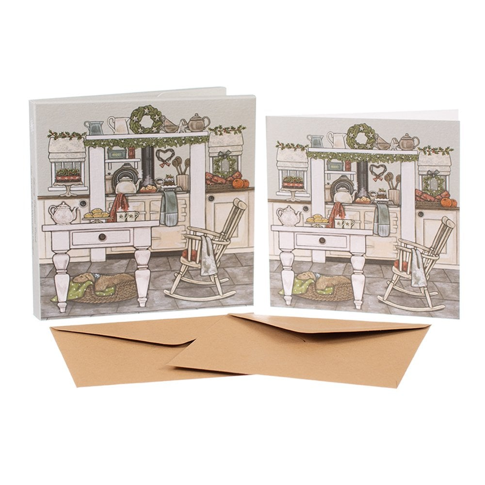 Sally Swannell Christmas Kitchen Box of 8 Christmas Cards