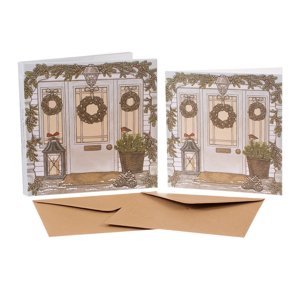 Sally Swannell Christmas Welcome Box Of 8 Christmas Cards