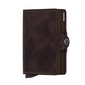 Leather Twinwallet Vintage Chocolate