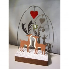 Kiss Me Deer Christmas Decoration