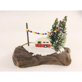 Red Caravan Christmas Scene Decoration