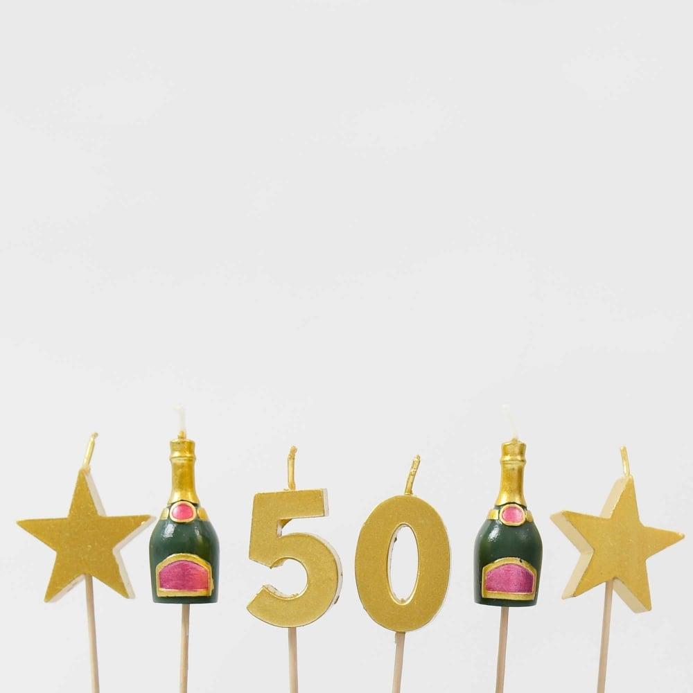 50th Birthday Candle Set
