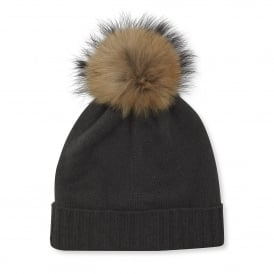 Mole Cashmere Plain Knit Hat