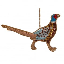 Beaded Pheasant Decoration