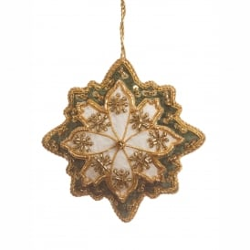Ivory Snowflake Decoration