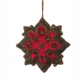 Red Snowflake Decoration