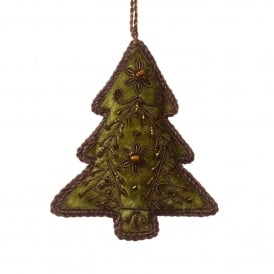 Sage Green Velvet Tree Decoration