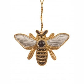 Silver Bee Decoration
