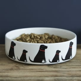 Black Labrador Large Dog Bowl