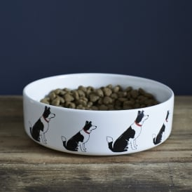 Border Collie Large Dog Bowl