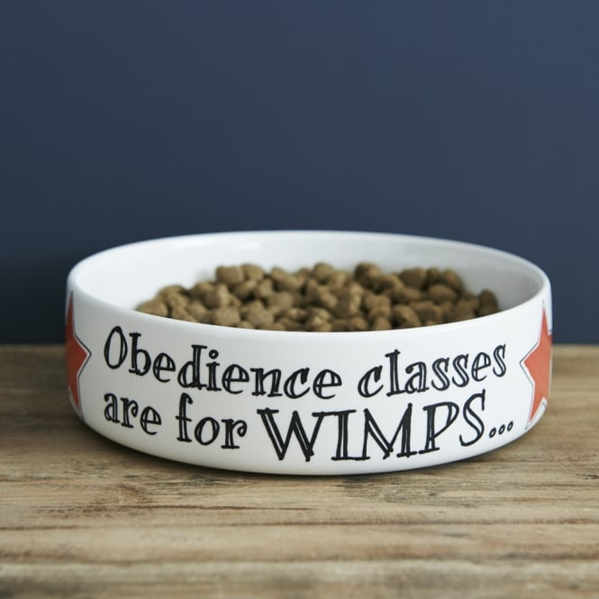 Sweet William Obedience Classes are for Wimps Large Dog Bowl