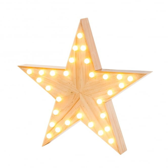 Talking Tables Nordic Christmas Wooden Star Light
