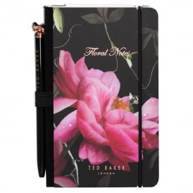 Citrus Bloom Black Mini Notebook & Pen