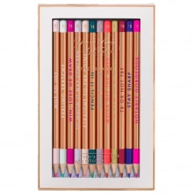 Porcelain Rose Set of 12 Colouring Pencils
