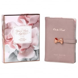 Porcelain Rose Travel Document Holder