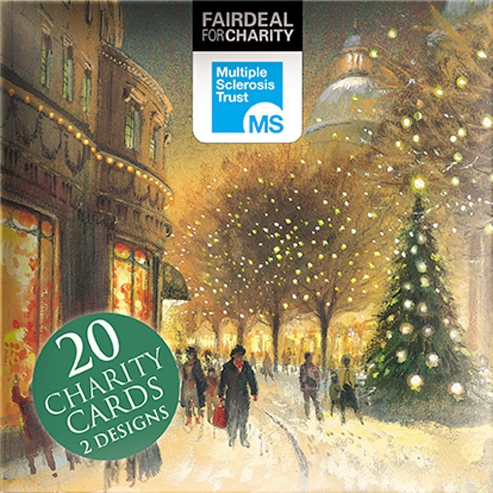 The Almanac Gallery Town Scenes Pack of 20 Charity Christmas Cards