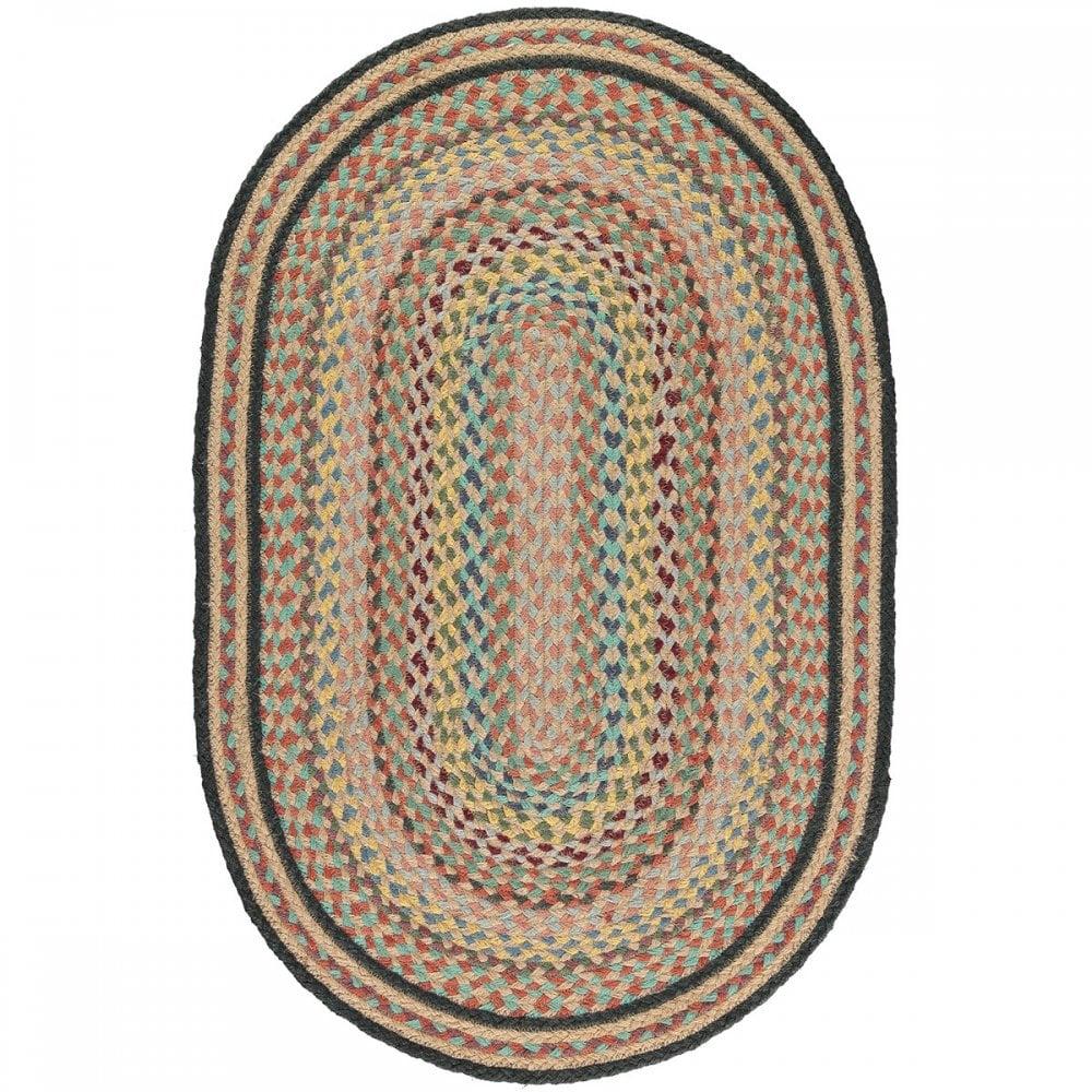 Kashmir Oval Jute Braided Rug