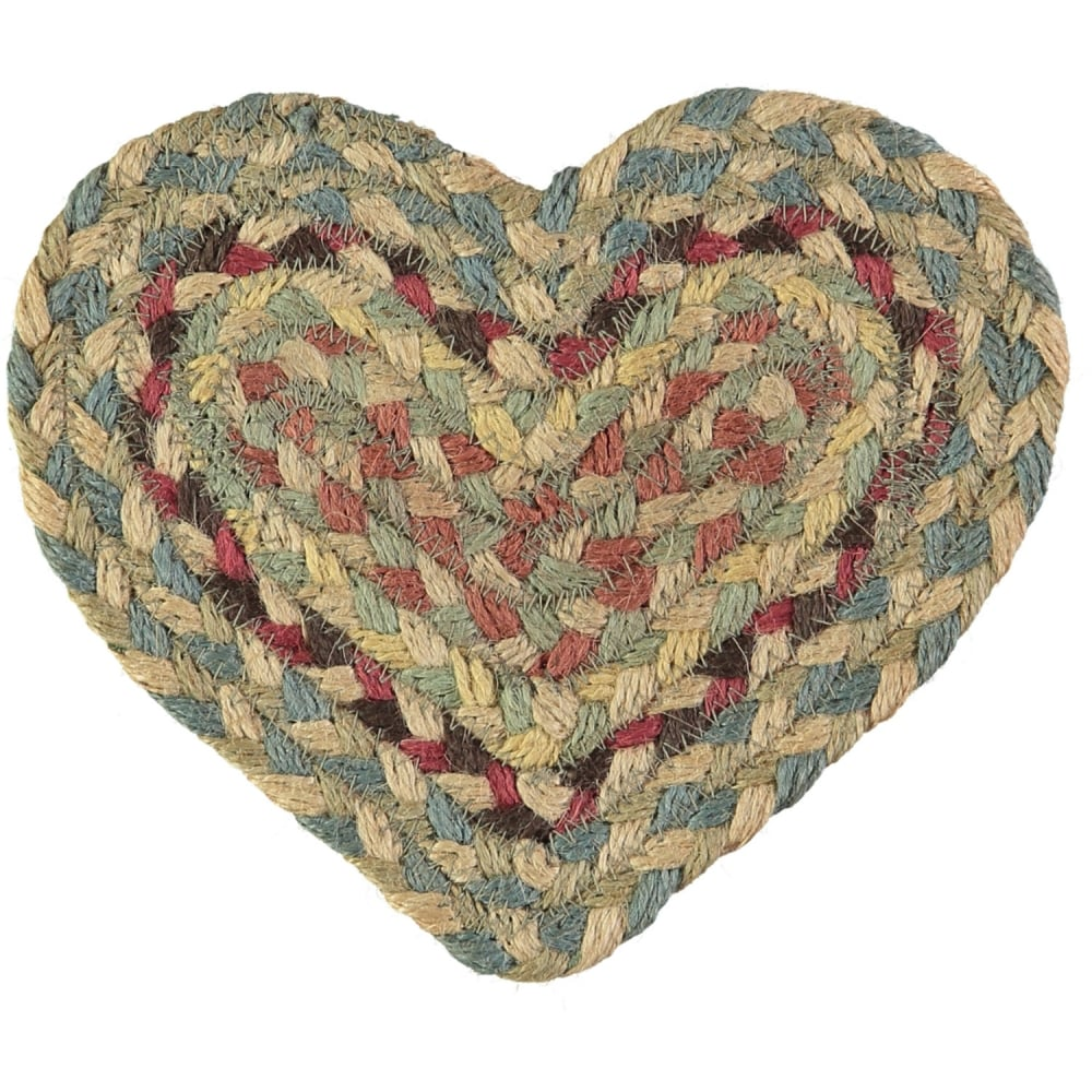 Pampas Heart Jute Braided Coaster