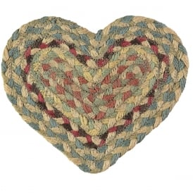 Pampas Heart Jute Braided Coaster