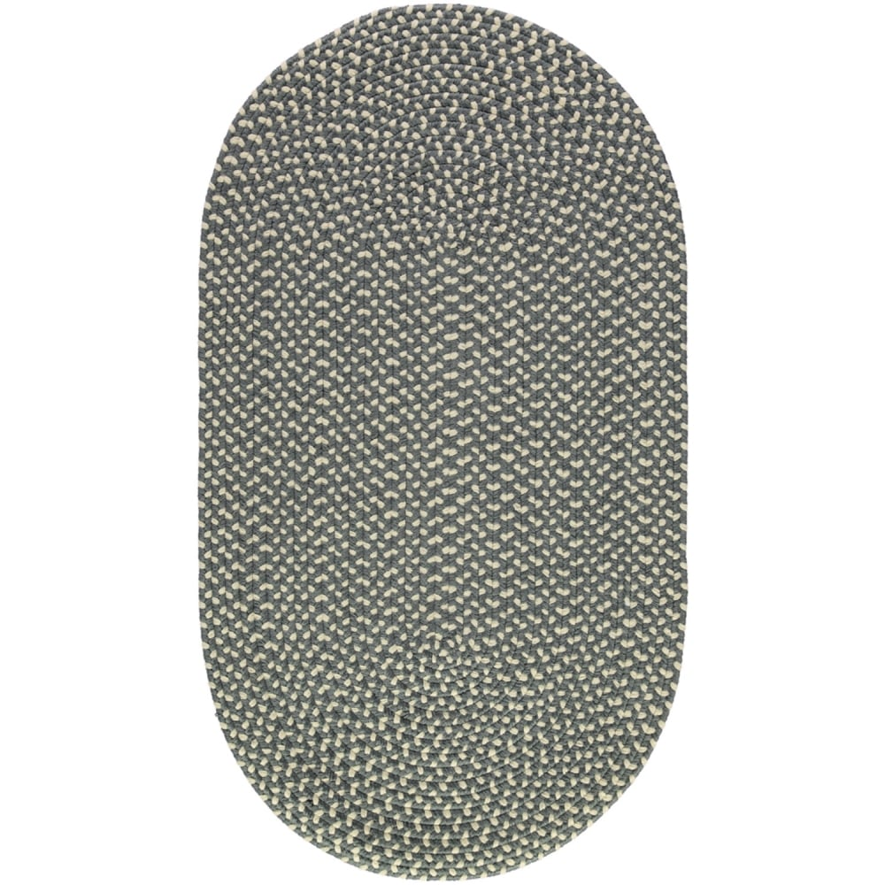 The braided rug company pewter cream oval eco rug for The rug company rugs