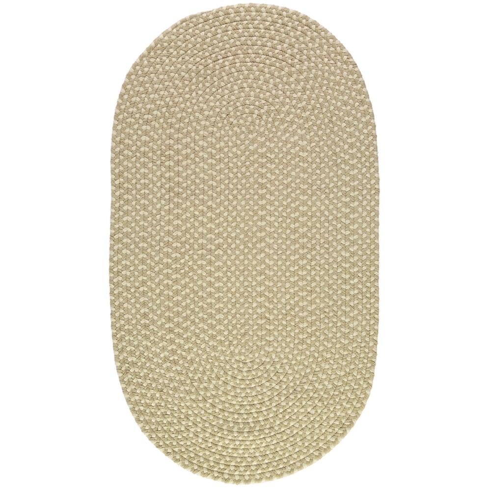 Putty Cream Oval Eco Braided Rug