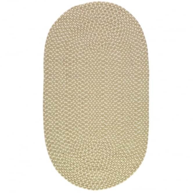 The Braided Rug Company Putty/Cream Oval Eco Braided Rug