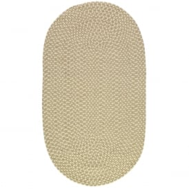 Putty/Cream Oval Eco Braided Rug